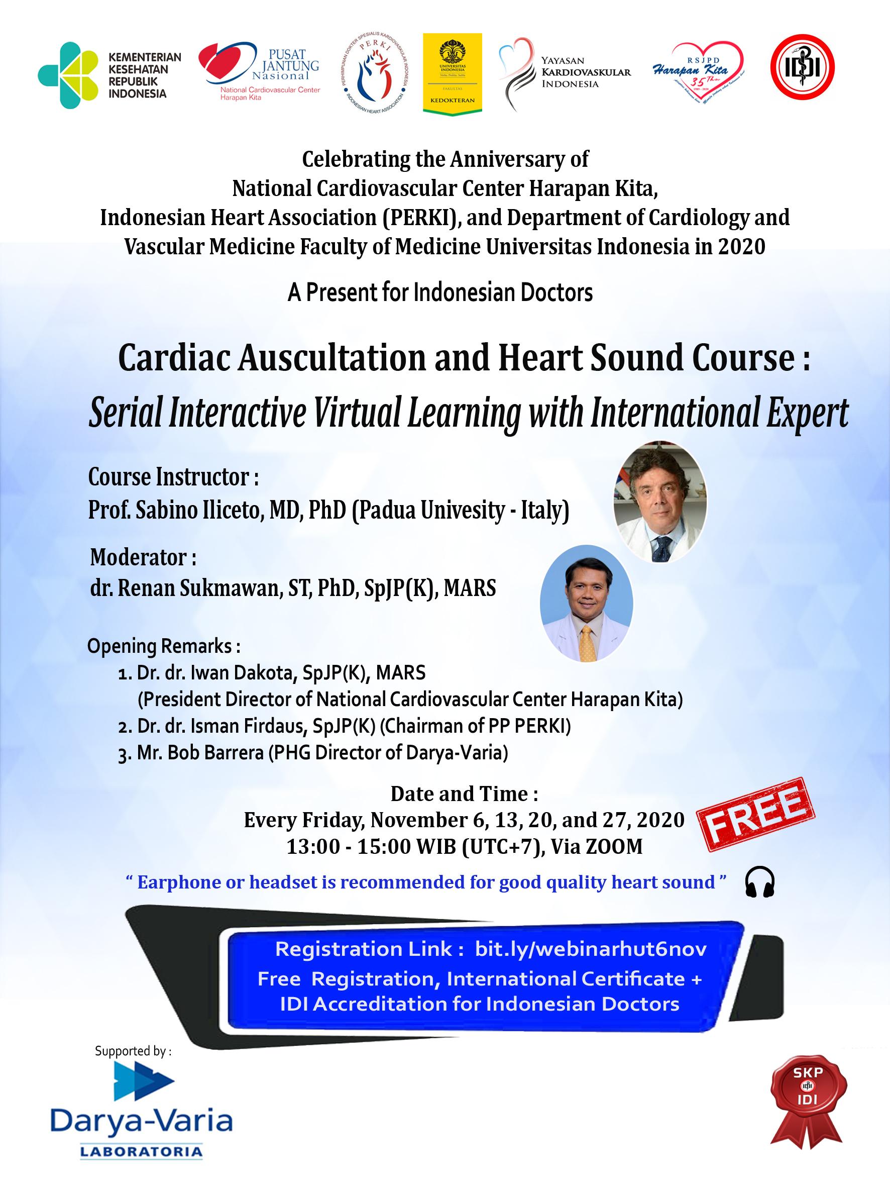 Webinar : Cardiac Auscultation and Heart Sound Course