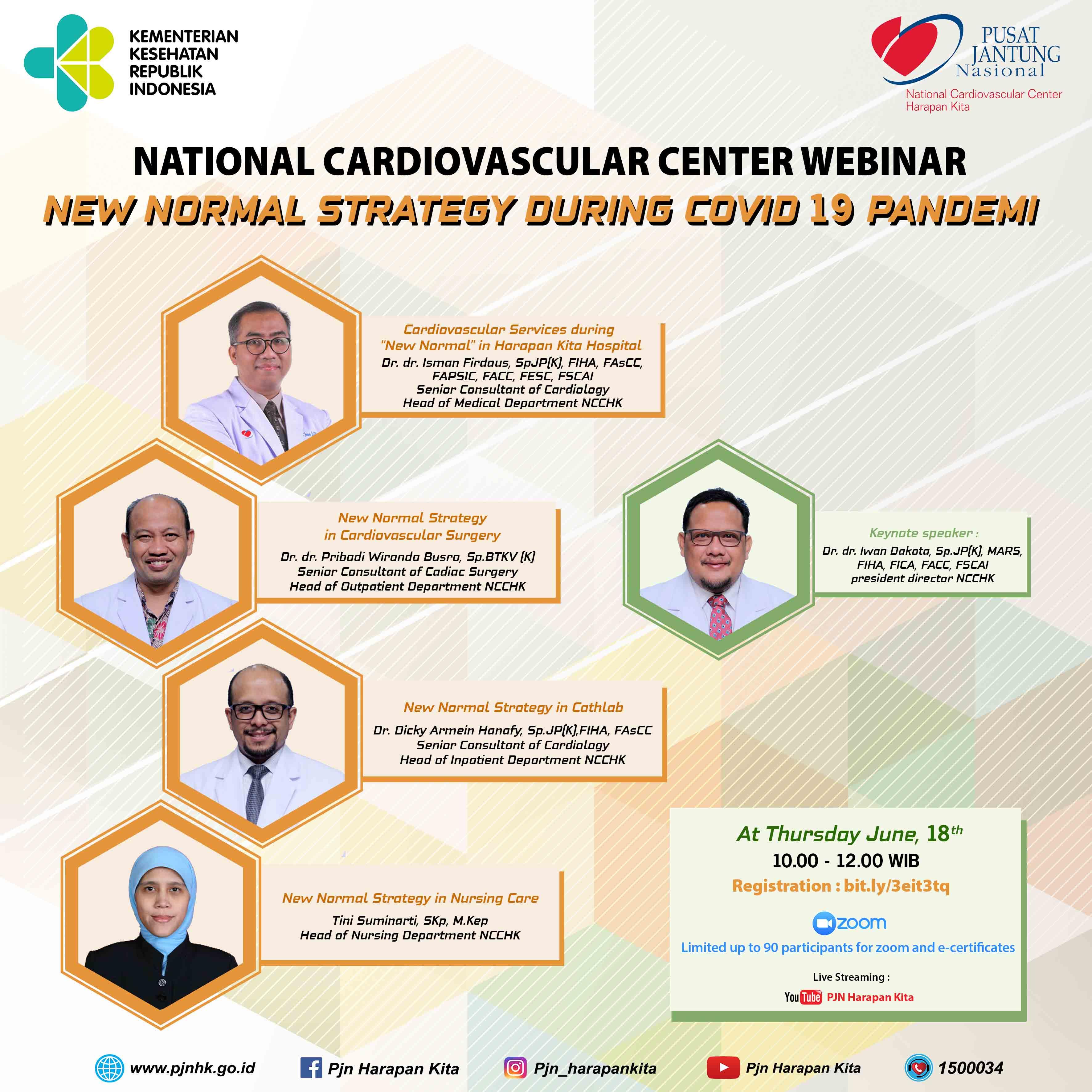 "Webinar ""New Normal Strategy In National Cardiovascular Center Harapan Kita"""