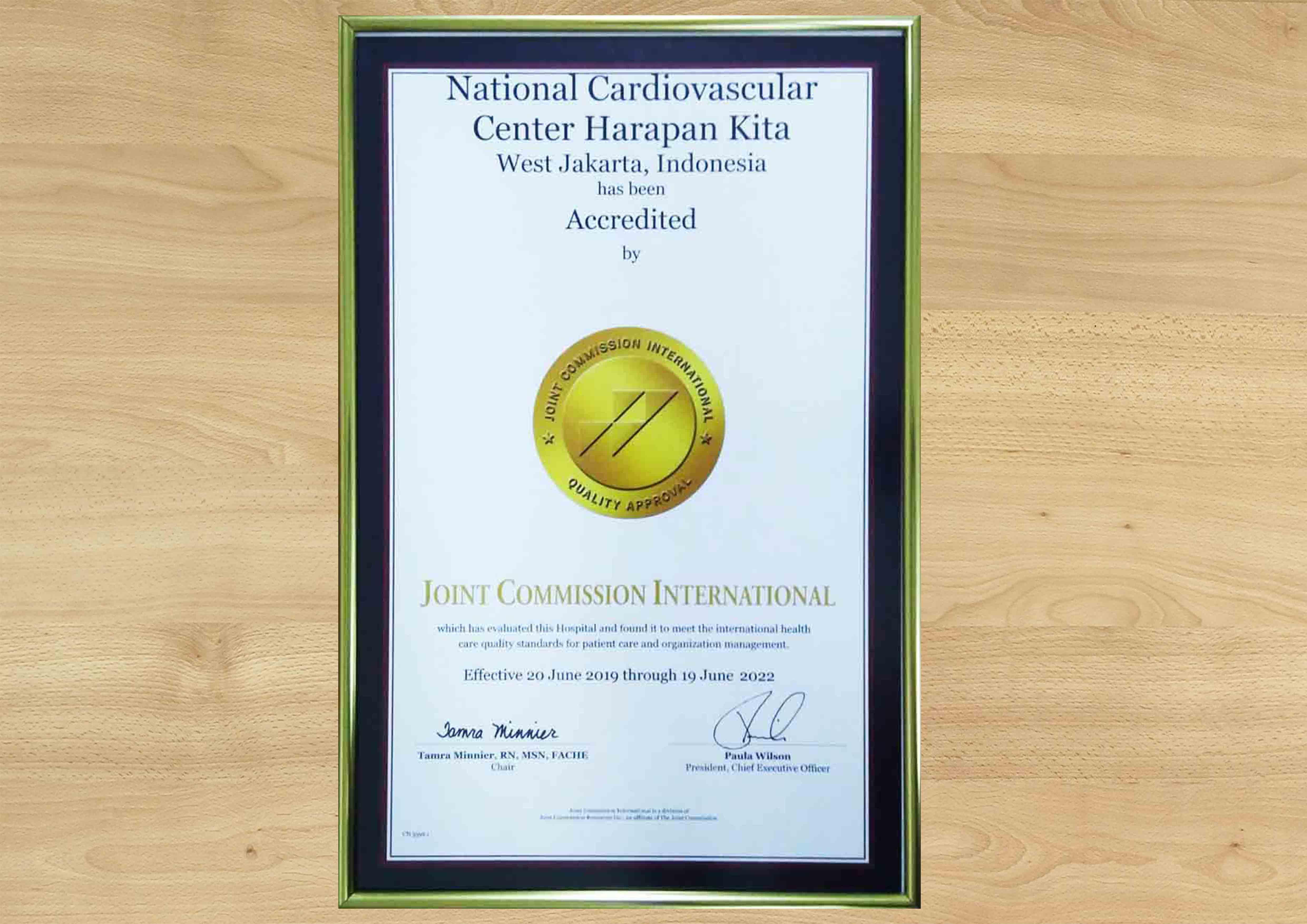 Akreditasi Internasional JCI  Diraih Kembali RSJPDHK